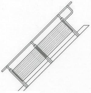 Lochblech-Geländer