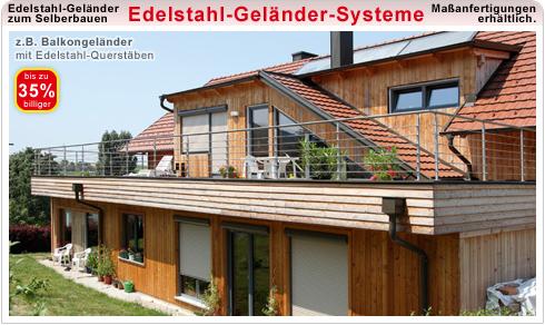 Edelstahl Geländer Systeme