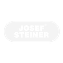 Edelstahl Glasgeländer Eckset - Länge: 1,38 m, aufgesetzte Montage