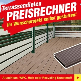 Terrassendielen Preisrechner