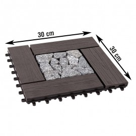 Terrassenfliese WPC / Stein Salzburg - Abmessungen: 300 x 300 mm