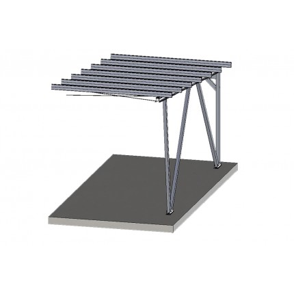 Alu Carport Mod. Future Erweiterungsset - Farbe Alu: blank, Dach: ohne Dach, Photovoltaik: ohne