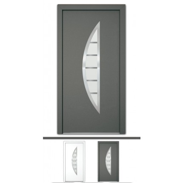 Aluminiumtür Mod. Luna - 1100 x 2100 mm (B x H)