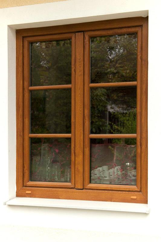 Kunststofffenster holzdekor  Dreh- und Kippfenster