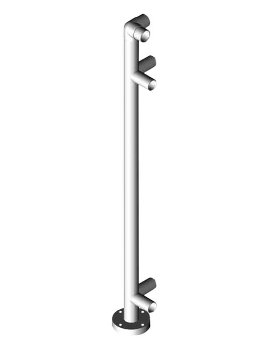 Sehr Pfosten für Fertig-Geländer zum Selberbauen, Stahl verzinkt JU41
