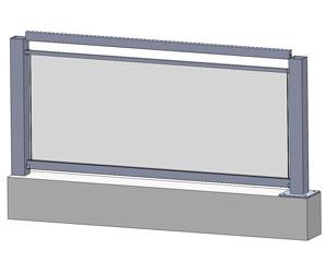 Innovativ Alu-Glas - Stiegen/Balkongeländer PF98