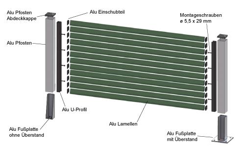 alu-lamellenzaun sheffield, Garten und bauen